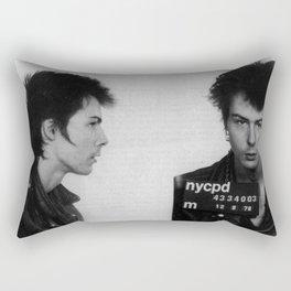 Sid Vicious Mugshot Rectangular Pillow