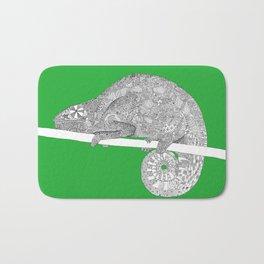 Green-Chameleon Bath Mat
