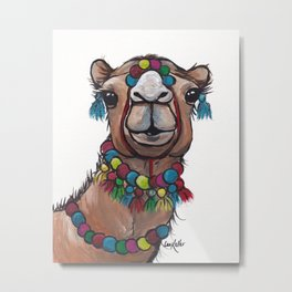 Camel Art,Camel with Tassels Metal Print