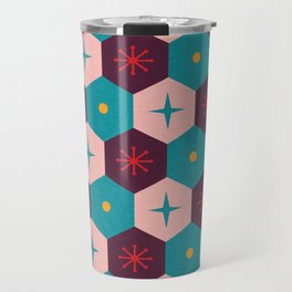Honeycomb with atomic elements Pattern Travel Mug