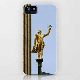 George Washington Flagpole Topper Old Statehouse Hartford Connecticut Gold Statue iPhone Case