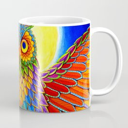 Colorful Rainbow Owl Coffee Mug