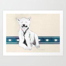 Baby wolf Art Print