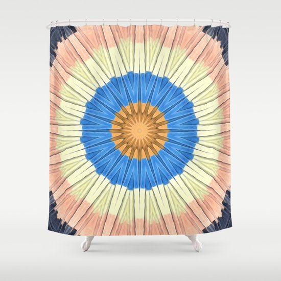 Textured Mandala Circles Shower Curtain
