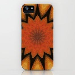 Solar // Mandala Rays Orange Yellow Golden Energy Chakra Healing Light iPhone Case
