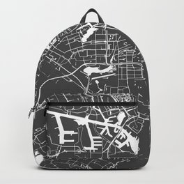 Amsterdam Gray on White Street Map Backpack
