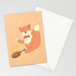 cook pancakes Stationery Cards