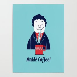 Coffee (blue) Poster