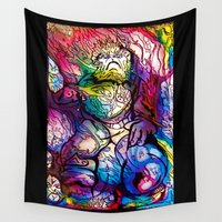 ape Wall Tapestries featuring Space Ape by ImpART by Torg