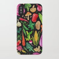 oana befort iPhone & iPod Cases featuring VEGGIES in black by Oana Befort