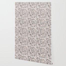 Rustic Texture Grunge Stripes Winter White Wallpaper