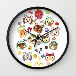 animal crossing cute villagers Wall Clock