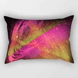 Vivid Spray Hot Pink Amber Rectangular Pillow