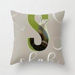 Slak - Dutch Animal Alphabet Throw Pillow