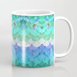 Turquoise Mermaid Scales Print Coffee Mug
