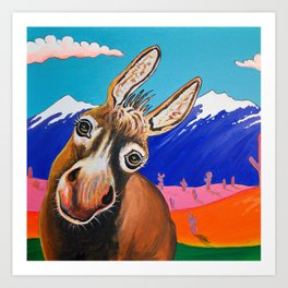 Happy Donkey Art Print