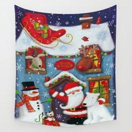 Santa's House Wall Tapestry