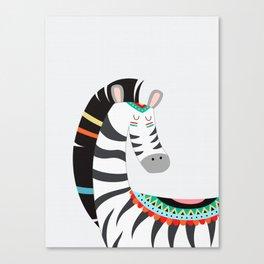Zebra Color Drawing Canvas Print