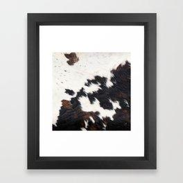 Brown Cowhide Framed Art Print