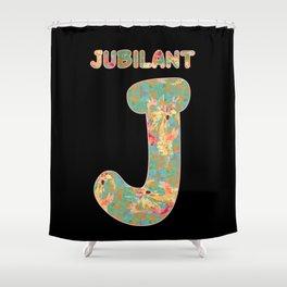 Alphabet - Jubilant J Shower Curtain