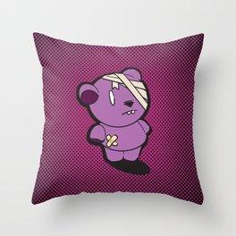 Purple Dead Bear Throw Pillow