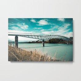 Lake Tekapo Footbridge - Tekapo, New Zealand Metal Print