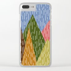 Raining Mountains Clear iPhone Case