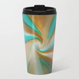 Blue green and brown art Travel Mug