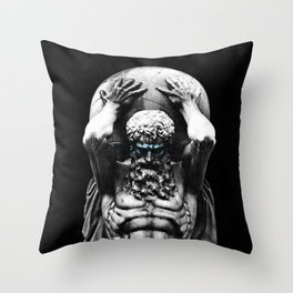 Hercules holding the whole world Throw Pillow