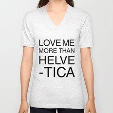 More than Helvetica Unisex V-Neck