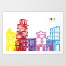 Pisa skyline pop Art Print