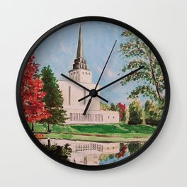 London England LDS Temple Painting Wall Clock
