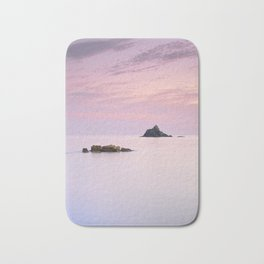 San Cristobal Reefs At Sunset . Bath Mat