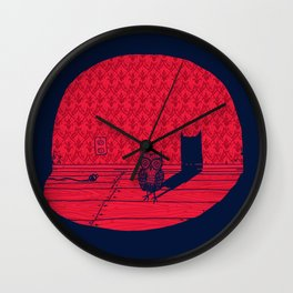 The Midnight Visitor Wall Clock