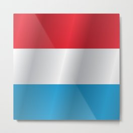 Flag of Luxembourg Metal Print