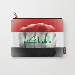country flag of iraq fist power war aggression Carry-All Pouch