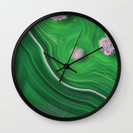 Green Marble Agate 0410 Wall Clock