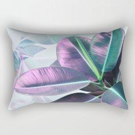 Violet Tropical Plant Rectangular Pillow