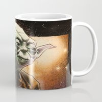 yoda Mugs featuring Yoda by calibos
