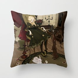 Clever Little Alice Throw Pillow