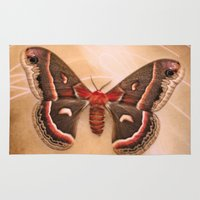 moth Area & Throw Rugs featuring Moth by KunstFabrik_StaticMovement Manu Jobst