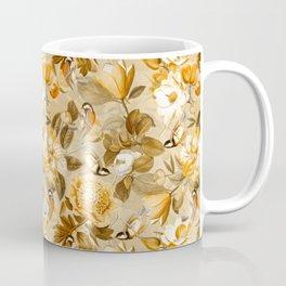 Vintage & Shabby Chic - Spring Sepia Birds Peonies Magnolia Botanical Garden  Coffee Mug