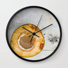 Marble Coconut Wall Clock