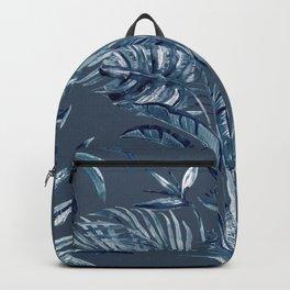 Indigo Batik Bohemian Palms Backpack