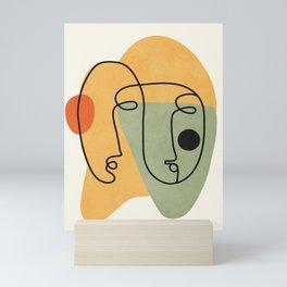 Abstract Faces 19 Mini Art Print