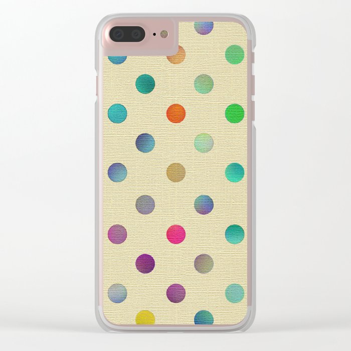 Sweet Dots Clear iPhone Case