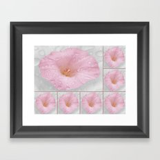 Beautiful Flower Collage Framed Art Print