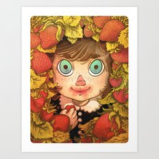 Strawberries Art Print