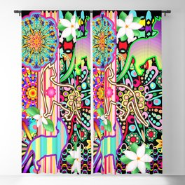 Mandalas, Cats & Flowers Fantasy Pattern Blackout Curtain