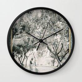 Sweeping, Sri Lanka Wall Clock